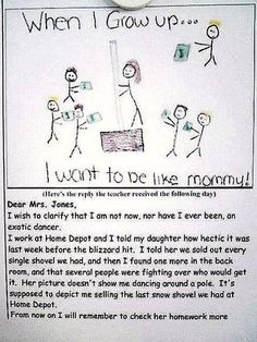 OMGosh... TOO funny!   Kids draw the darndest things