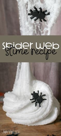 spider web slime is a MUST TRY any time your kids are learning about spiders doing a spider unit study or reading a spider themed book for story time. Theme Halloween, Halloween Crafts, Vintage Halloween, Halloween Books, Halloween Ideas, Spider Web Craft, Spider Crafts, Fun Activities For Kids, Halloween Activities