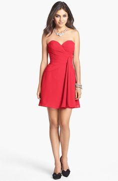 Faviana Strapless Chiffon Dress available at #Nordstrom