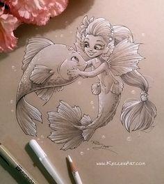 Mermaid 4 by KelleeArt on @DeviantArt