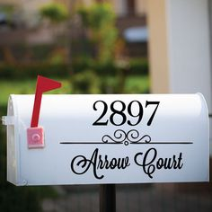 Mailbox Numbers - Letter Decals - Mailbox Decals - Vinyl Numbers - Mailbox Stickers - Personalized Mailbox - Mailbox Letters - Wall Decor