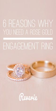 Need help deciding between rose gold and yellow gold for your engagement ring setting? Not sure what's best for you? We put together 6 reasons why rose gold is so darn swoonworthy. | Read more at: http://blog.ohreverie.com/ring-of-the-day/6-reasons-to-choose-rose-gold-ring/