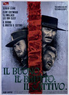 Il buono, il brutto, il cattivo, #SergioLeone (1966) - Manifesto