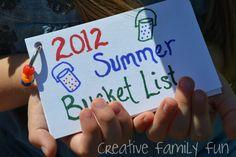 Summer Bucket List: Our 2012 List ~ Do you make a summer bucket list? What do you have on it?
