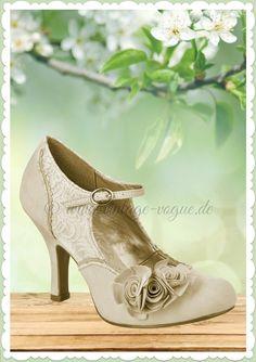 d6444b8e589778 Ruby Shoo 40er Jahre Vintage Schuhe Riemchen Pumps - Emily - Gold