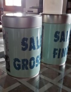 Sale grosso e sale fino  #sale #grosso #fino #riciclare #vinile #stampa #taglio #stampadigitale