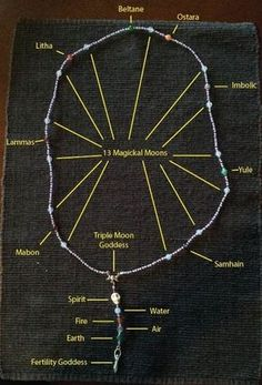Pagan Rosary -- I really would love to recreate this, maybe w/different beads. If I find actual how-to directions for this, I'll add it here.