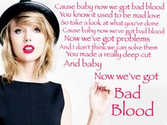 Taylor Swift - Bad Blood lyrics/quote