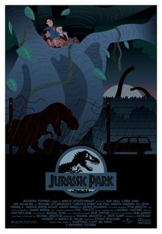 """Jurassic Park: Still, and forever my all time favourite. Not sure I want to see Jurassic World as it just won't compare in my eyes! """"What do you can a blind dinosaur? Jurassic Park Poster, Jurassic Park Series, Jurassic Park World, Jurassic Movies, Michael Crichton, Jurrassic Park, Park Art, Science Fiction, Steven Spielberg Movies"""