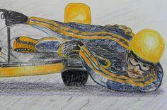 Hampus von Post, 1972. detail. 14x17, graphite & color pencil,  completed april  21, 2015