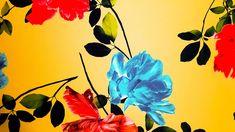 Mikado en fondo amarillo con estampación en flores rojas y aguamarinas. El mikado es un tejido de poliester con gran cuerpo. Tejido perfecto para vestidos con cuerpo y faldas con vuelos o capeadas. (Las flores son de tonalidades rojas y burdeos, y de tonalidades verde aguas a aguamarina). Painting, Art, Tela, Yellow Background, Green, Red Flowers, Flare Skirt, Bordeaux, Skirts