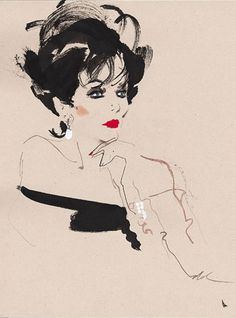 Joan Collins illustrated by David Downton