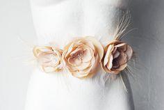 pale pink wedding sash- via etsy