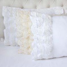 Beautiful Lace Whisper Ruffle Pillow Sham on Sale!