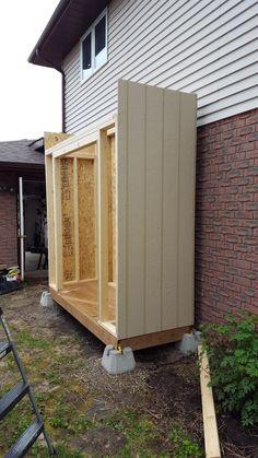 Diy Storage Shed, Backyard Storage, Backyard Sheds, Outdoor Sheds, Outside Storage Shed, Backyard Chairs, Outdoor Storage, Diy Shed Plans, Lean To Shed Plans