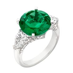 Three Colours of Love Emerald 5.29ct Ring #Fabergé #emerald #ring