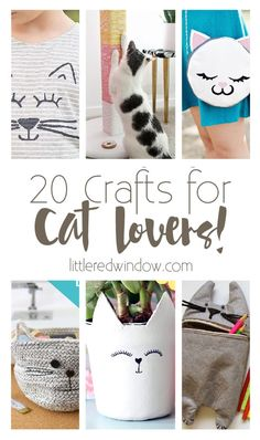20 Crafts for Cat Lovers! - Little Red Crafts for Cat Lovers! – Little Red Window 20 Crafts, DIYs and Projects for Cat Lovers! Retro Baby, Pet Gifts, Cat Lover Gifts, Lovers Gift, Dog Lovers, Crafts To Make And Sell, Crafts For Kids, Sell Diy, Kids Diy