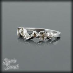 Sun Moon and Stars Diamond Wedding Ring in by LaurieSarahDesigns, $906.75
