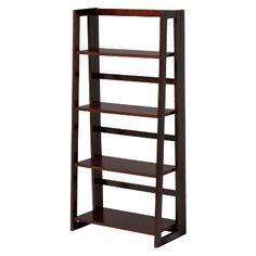 bookshelf for office linon dolce 4shelf folding bookcase dark