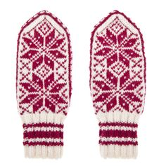 Mittens in Norwegian Selbu pattern hand knit from by annawoolmagic