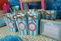 Favors at a Mermaid Party #mermaid #partyfavors