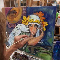 ALFONZ MUCHA study Výtvarné kurzy VytFit- Zážitkové, tvorivo- experimentálne kurzy kreslenia, malovania a výtvarných techník. Príprava na prijímacie skúšky SŠ, VŠ- design, architektúra, animovaná tvorba Alfonz Mucha, Bratislava, Painting, Art, Art Background, Painting Art, Kunst, Paintings, Performing Arts