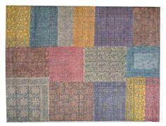 DYWAN PATCHWORK KOLOROWY 140X200 - Dywany - Artykuły dekoracyjne do domu, wyposażenie wnętrz, sklep DekoracjaDomu.pl