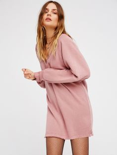 Girl Talk Lounge Pullover | Cozy long sleeve pullover with a raw hem for a lived-in look and pretty lace accents along the V-neckline for a touch of femme. Comfortable, relaxed shape. Terrycloth inner.