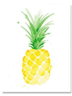 Add some color to your walls with this adorable pineapple print!