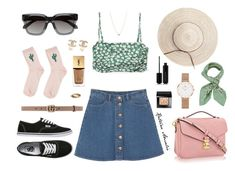 """""""You look so fine and I really wanna make you mine"""" by katrine-amalie ❤ liked on Polyvore featuring Empreinte, Monki, Linda Farrow, Vans, Topshop, Gucci, Manipuri, Daniel Wellington, Chanel and Bobbi Brown Cosmetics"""