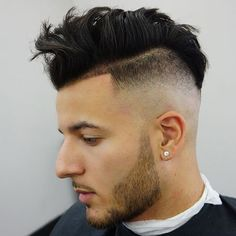 Undercut Haircuts with Messy Comb Over and Shape Up