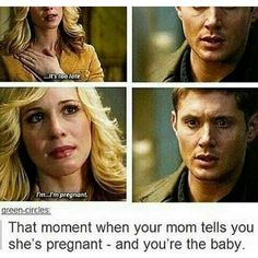 Here's Your Daily Dose Of Funny Supernatural Posts And Memes (Episode Supernatural Destiel, Castiel, Supernatural Episodes, I'm Pregnant, Comic, Super Natural, Sam Winchester, Winchester Brothers, Superwholock