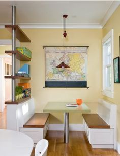 kitchen eating area, kitchen banquettes, bench seating, kitchen nook, built in seating