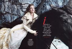 Drew Barrymore by Annie Leibovitz styled by Grace Coddington for Vogue US xx