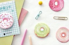 Donut Sticky Notes, Donut Notepad, Donut Memo Notes, Doughnut, Cute School Supplies, Cute Office Supplies, Donut Stationery by CaribouMilk on Etsy