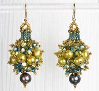 Herringbone Cluster Earrings by Laura McCabe