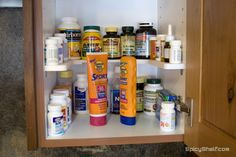 Spicy Shelf works great for medicines and pill bottles.