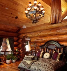 Sweet & Romantic Bedroom Colors - Awesome Log Cabin - Click Pic for 42 Romantic Master Bedroom Decor Ideas