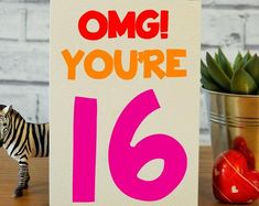 Cards for real life! by CheekyZebraCardShop 16th Birthday Gifts For Girls, Best Friend Birthday Cards, 16th Birthday Card, Best Friend Cards, Sister Birthday, Funny Birthday Cards, Handmade Birthday Cards, Best Friend Gifts, Announcement Cards