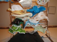 Info and links about washing cloth diapers and how/when to strip them.