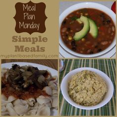 Meal Plan Monday: Simple Plant-Based Meals