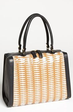 a22d7a6eae8c Marni Woven Leather  amp  Raffia Satchel available at  Nordstrom Best  Handbags