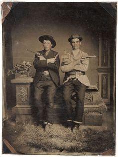 ca. 1885, [Tintype Portrait of Two Well-Armed Western Gentlemen]