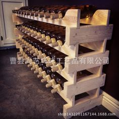 Can be superimposed solid wood wine rack export style wooden creative new wine rack 56 bottles