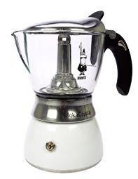 Espressokeitin 4 Moka crystal valkoinen