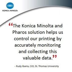 Konica Minolta Helps St. Thomas University Overhaul Its Entire Print Operations! #countonkonicaminolta #konicaminolta #pharos #printer  #business #solutions