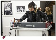 Janey Umback DJ at the Opening night of EVE music photography by Zo Damage at Besser space in Collingwood on Friday 15 July 2016 during the leaps and bounds music festival. http://www.rosogorman.com