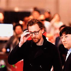 #TomHiddleston arrives at the Incheon International Airport in South Korea on April 11, 2018, for the Avengers: #InfinityWar Fan Event. #Loki