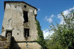 Camporosso (IM), vecchio mulino tra la Chiesa di S. Pietro e il torrente Nervia