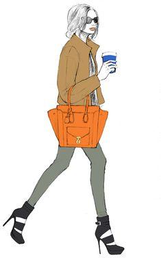cool, coffee, stylish, illustration, fashion illustration, sunglasses, hair,